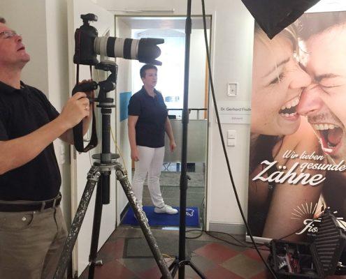 Martin Weinbrenner, Fotoshooting Praxisteam Dr. Gerhard Fischer, Karlsruhe-Durlach