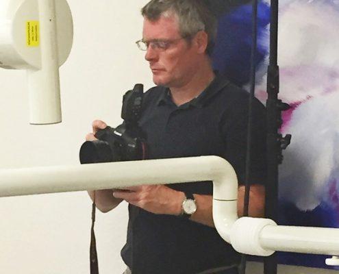 Martin Weinbrenner, Fotograf, Fotoshooting Praxisteam Dr. Gerhard Fischer, Karlsruhe-Durlach